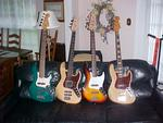 I love Fender Basses, in case you couldn't tell. The second one is my Tractor replica.